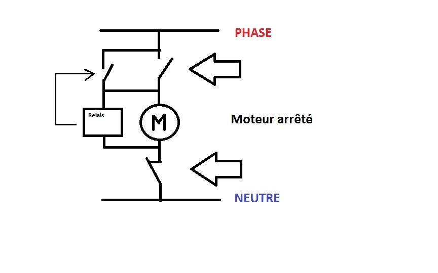schema electrique auto maintien